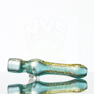 Dichroic Alchemy Chillum - Gold over Aqua 858822 (2)