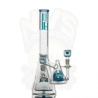 Subliminal Glass Pyramid Perk w ashcatcher BLUE STARDUST