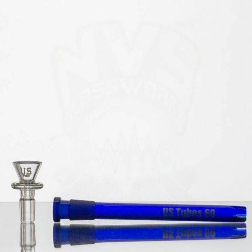 US Tubes 12in 5mm Beaker 55 - Cobalt Blue Joint - Blue Interstate