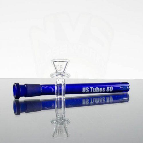 US Tubes 12in Beaker 55- Cobalt Blue Joint downstem -Blue interstate label