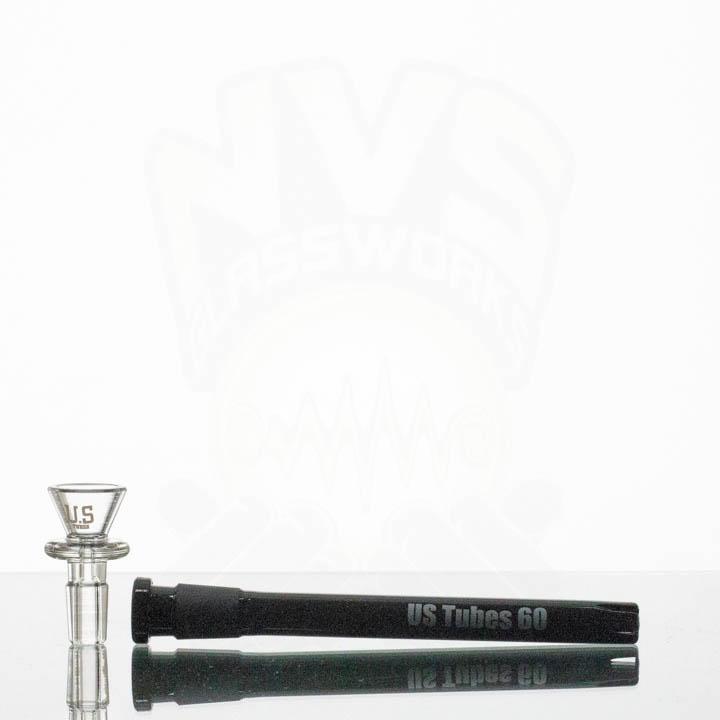 US Tubes 18in 5mm Beaker 55 BLACK JOINT Black Label