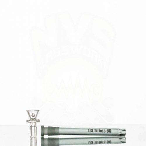 US Tubes 18in 9mm Beaker 59 TRANS BLACK JOINT Black label