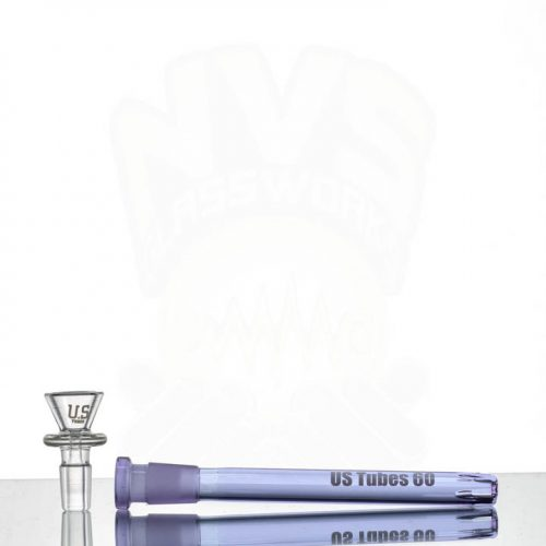US Tubes 12in 5mm Beaker 55 - PURPLE joint- Purple label