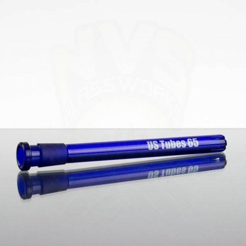 US Tubes 65 6.5in 14-18mm Downstem - Cobalt Blue