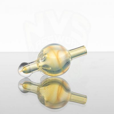 Waughstreetglass Bubble Cap - Yellow Fumed 2of4