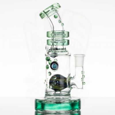 Hubbard Glass Hubb/Duction - Green Stardust