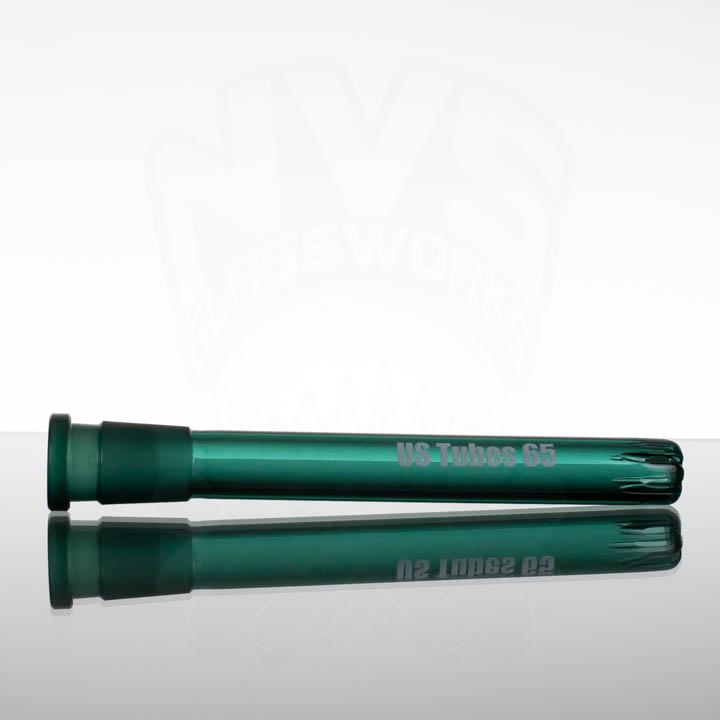 US Tubes 65 6.5in 18-24mm Oversized Downstem - Aqua