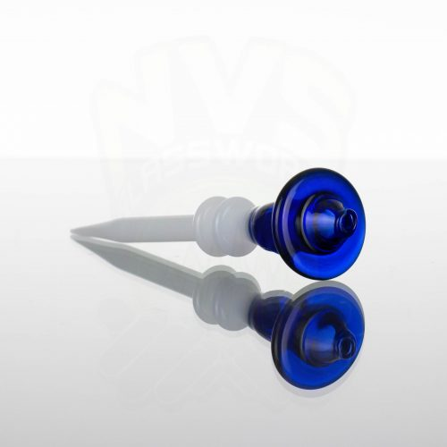 Monkey Boy Art Hollow Cap and Dabber - Blue - White