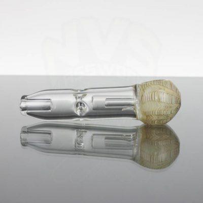 Pirate Glass Spill less Pocket Bubbler - Medium - Beige