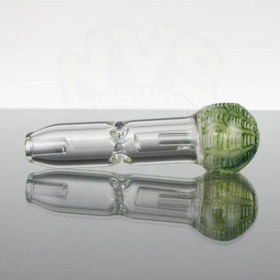 Pirate Glass Spill less Pocket Bubbler - Medium - Green Wavy