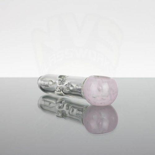 Pirate Glass Spill less Pocket Bubbler - Medium - Pink