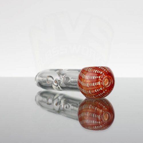 Pirate Glass Spill less Pocket Bubbler - Medium - Red White