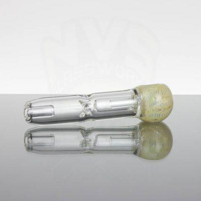 Pirate Glass Spill less Pocket Bubbler - Medium - Yellow