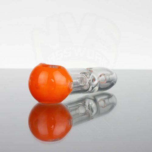 Pirate Glass Spill less Pocket Bubbler - Small - Orange