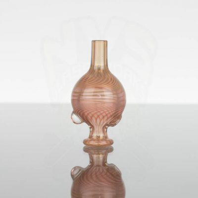 Waugh Street Glass Bubble Cap - Pink Fumed 1of2