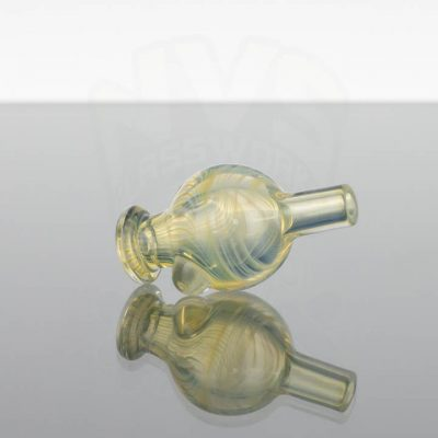 Waugh Street Glass Bubble Cap - Yellow Fumed 2of2