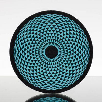 5in Circle Moodmat - Aqua Eye of Taurus (UV)