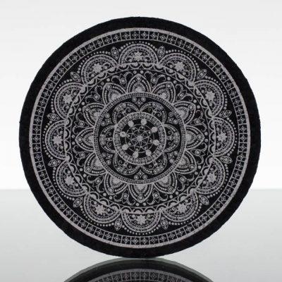 5in Circle Moodmat - Silver Yeshini (UV)