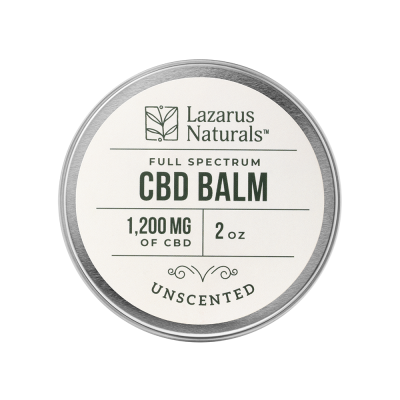 Lazarus Naturals Full Spectrum CBD Balm Unscented - 1200mg 2oz