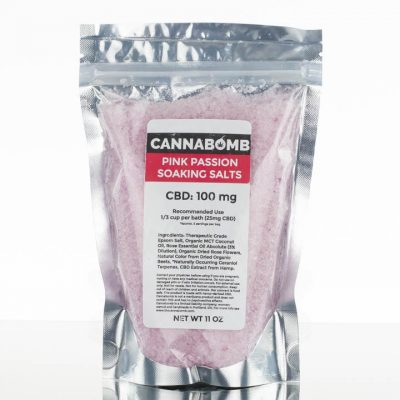 Cannabomb CBD Soaking Salts 100mg - Pink Passion