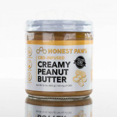 Honest Paws CBD Creamy Peanut Butter - 16oz -250mg CBD