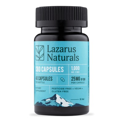 Lazarus Naturals 25mg Full Spectrum CBD Capsules - 40 count