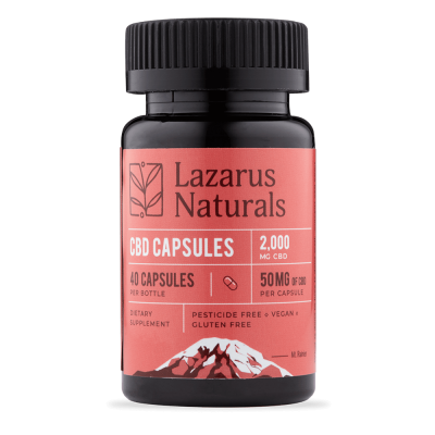 Lazarus Naturals 50mg Full Spectrum CBD Capsules - 40 count
