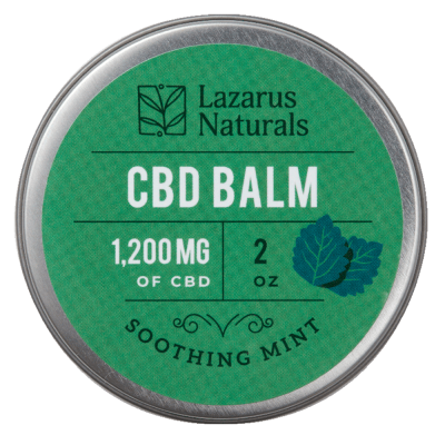 Lazarus Naturals Full Spectrum CBD Balm Soothing Mint - 1200mg 2oz