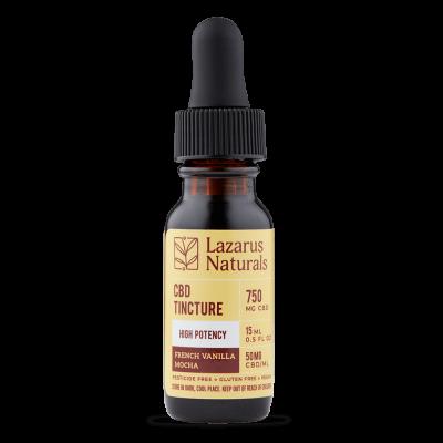 Lazarus Naturals High Potency Full Spectrum CBD Tincture - 750mg 15ml - French Vanilla Mocha