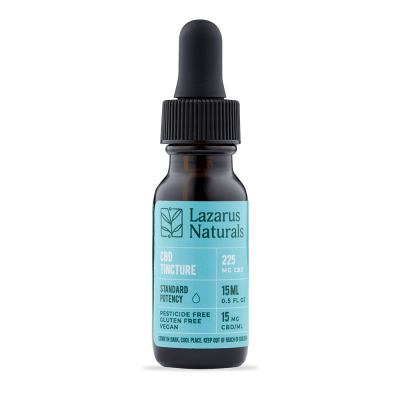 Lazarus Naturals Standard Potency Full Spectrum CBD Tincture - 225mg 15ml