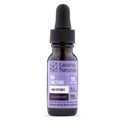 Lazarus Naturals High Potency CBD Isolate Tincture - 750mg 15ml - Flavorless