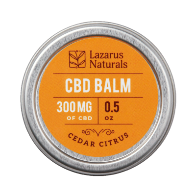 Lazarus Naturals Full Spectrum CBD Balm Cedar Citrus - 300mg 0.5oz