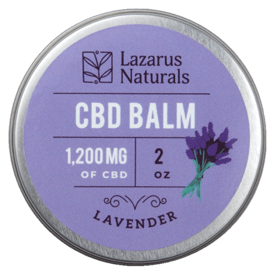 Lazarus Naturals Full Spectrum CBD Balm Lavender - 1200mg 2oz