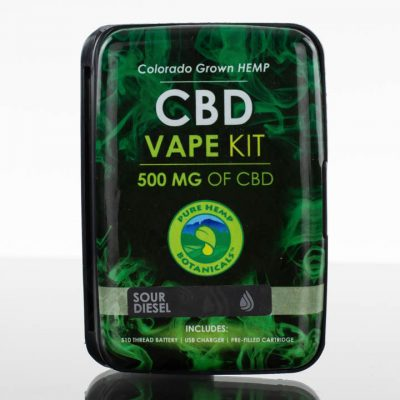 Pure Hemp Botanicals CBD Vape Kit - 500mg - Sour Diesel