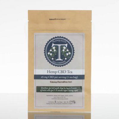 Tranquility Tea Company CBD Tea - Calming Chai