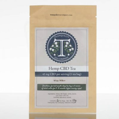 Tranquility Tea Company CBD Tea - White Willow