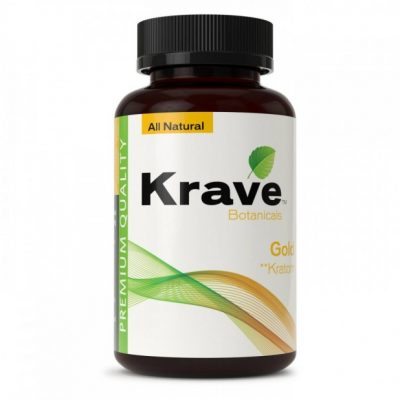 Krave Botanicals Gold Kratom Capsules