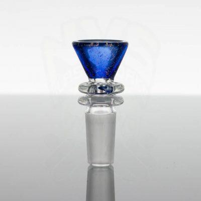 Dichroic Alchemy 14mm Slide - Orange Dichro Over Cobalt Blue Glass