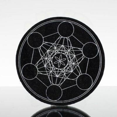 5in Circle Moodmat - Illuminati Metatron (UV)