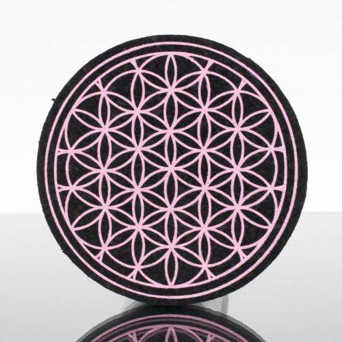 5in Circle Moodmat - Mauve Flower (UV)