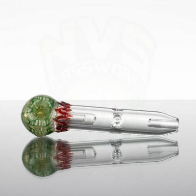 Spilless-Pocket-Bubbler-Small-Green-with-Cream-and-Red-Wave-863320-48