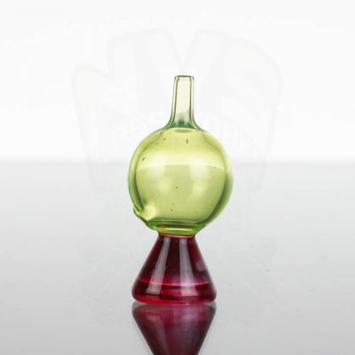 ABMP Glass Bubble Cap - Red Trans Green