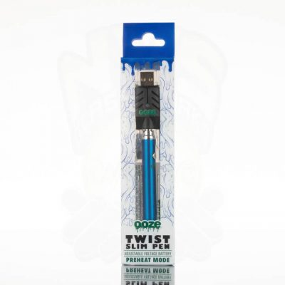 Ooze Slim Twist Battery with USB Charger - Blue