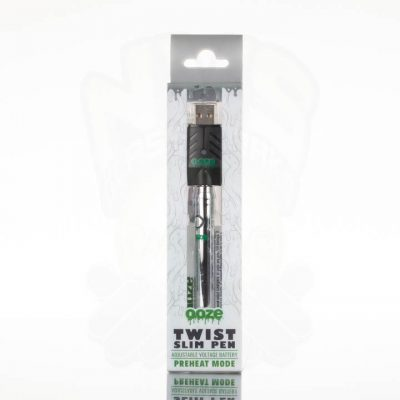 Ooze Slim Twist Battery with USB Charger - Chrome