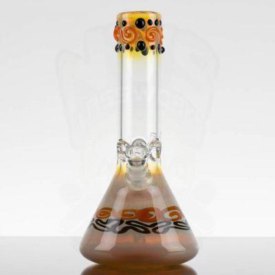 MIO Wavy Beaker - Orange Black Swirls