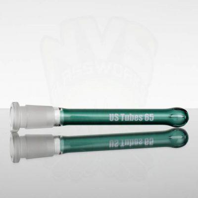 US Tubes 6.5in 65 Oversized 18-24mm 3-Slit Downstem - Aqua