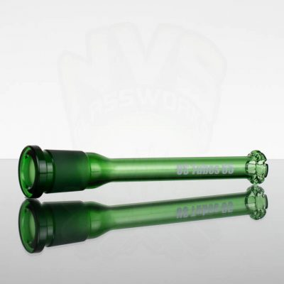US Tubes 6.5in 65 Oversized 18-29mm Showerhead Downstem - Green