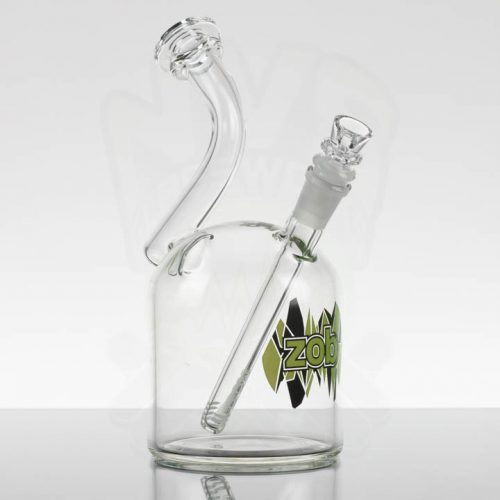 Zob 110m bubbler - Green Black Shatter