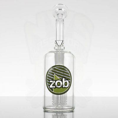 Zob - Large 8 Arm Bubbler - Green Black Stripes