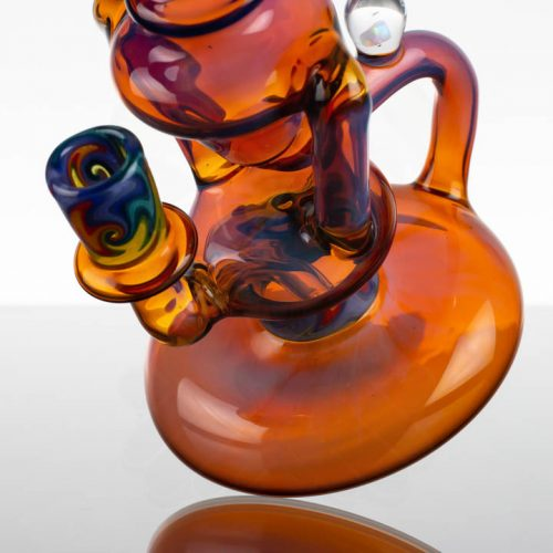 "Dizzy 7"" Dual Uptake Recycler - Worked Amber Purple"